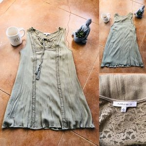 Olive Green sleeveless dress Size Large